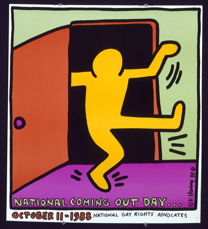 Keith Haring National Coming Out Day, 1988 Offset lithograph, 26 x 23 in. © Keith Haring Foundation