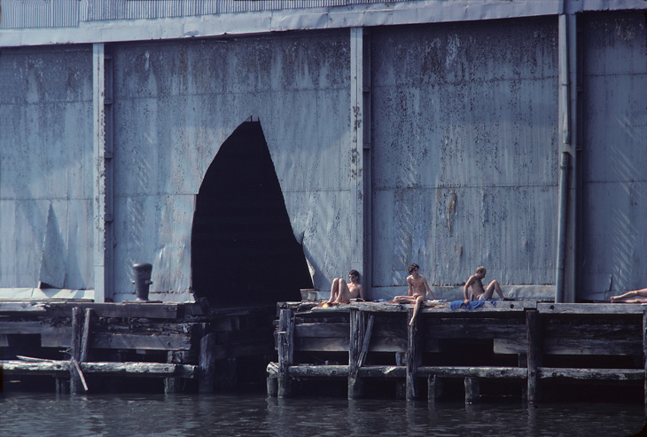 Shelley Seccombe Sunbathing on the Edge, 1978 Color photograph, 13 x 19 in. Courtesy the artist