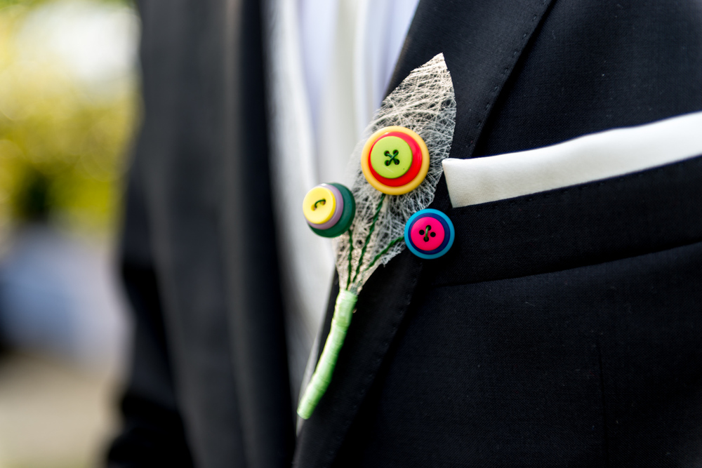 button themed wedding