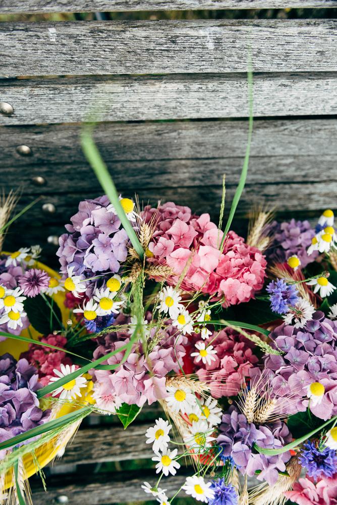 Hortensien als Hochzeitsbouquet