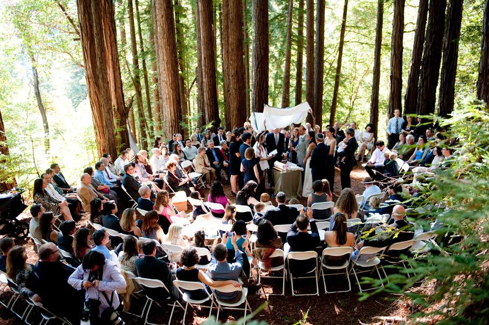 jewish wedding ceremony redwoods