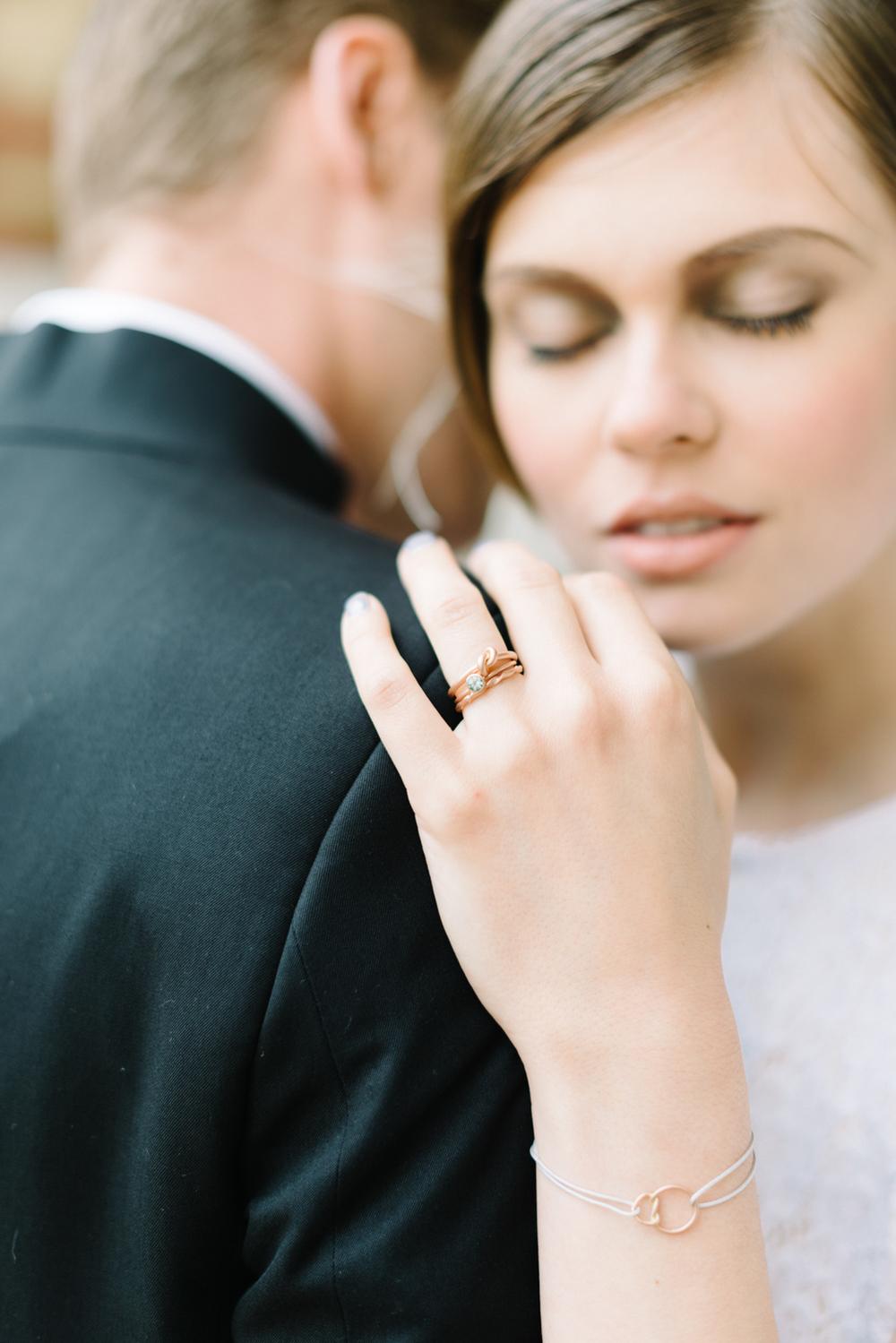 Rosegold Verlobungsring