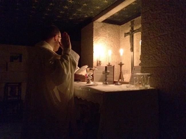 Holy Mass at St Benedict's Tomb, Montecassino