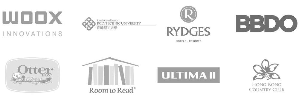 Page2-Logos+Woox-Innovations+Hong-Kong-Polytechnic-University+RYDGES-Hotels-and-Resorts+BBDO+Otter-Box-+-Room-To-Read+Ultima-II+Hong-Kong-Country-Club.jpg