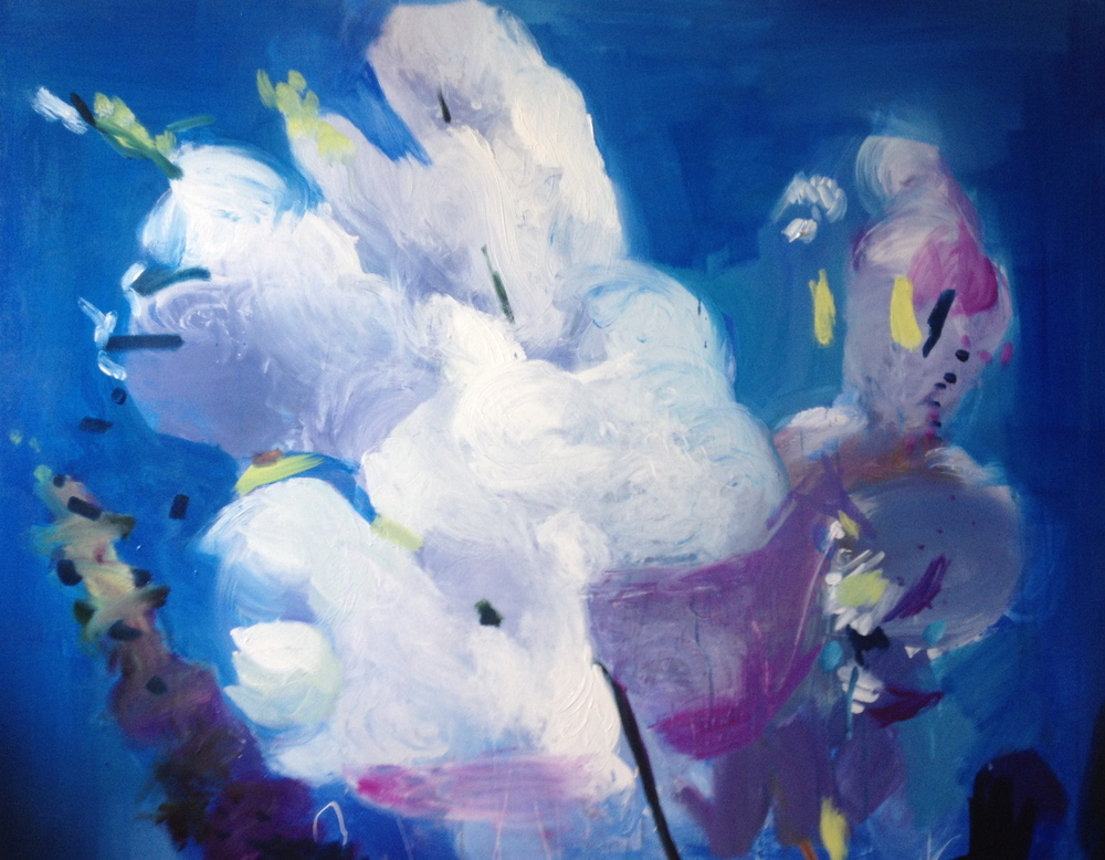 Blossom, 5ft x 6ft, oil on canvas, 2015