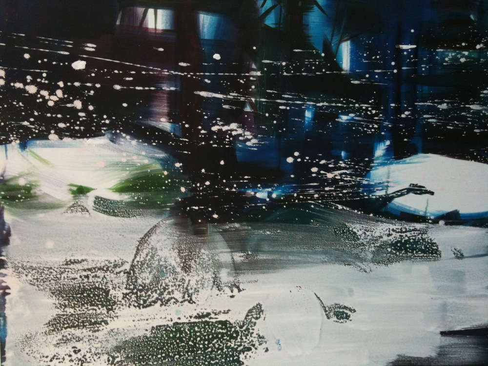 Blizzard, oil and emulsion on canvas, 4ft x5ft 2008