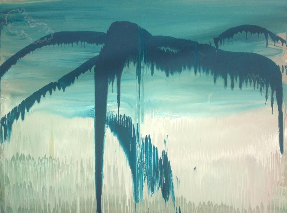 Apocalypse 2.5ft x 3.5ft, watercolour on canvas 2011