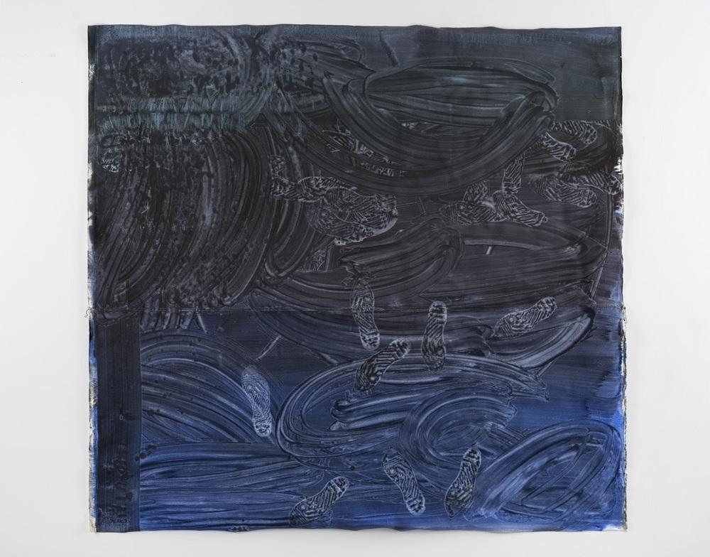 Walking around my mind, 5ft x 5ft, oil on canvas 2015