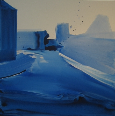 Wallis Road, 5ft x 5ft, watercolour on canvas 2007