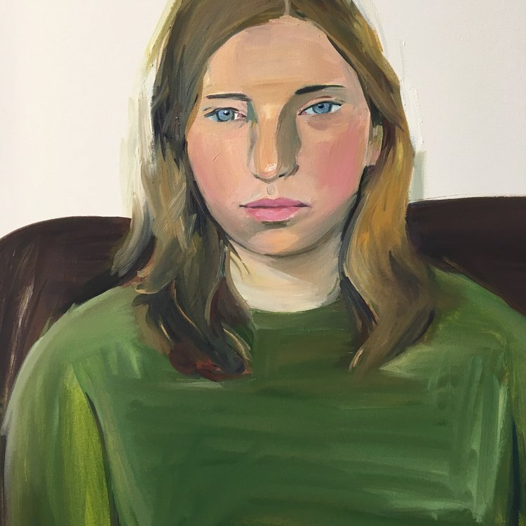 Paula 2016 76 x 50cms oil on canvas