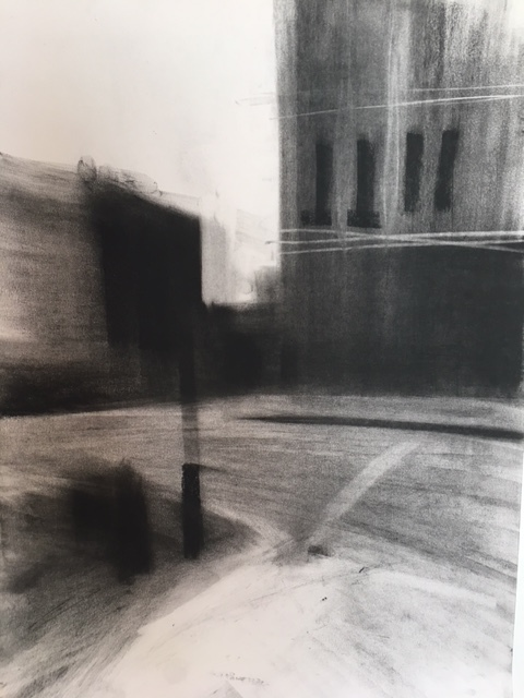 Kentish Town, 2017 charcoal on A3 paper