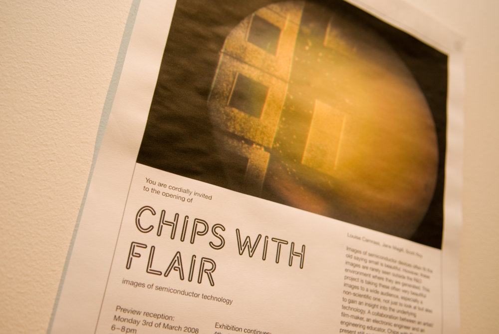 """Chips with Flair"" images of semi conductor technology shot in the clean rooms at Glasgow University"