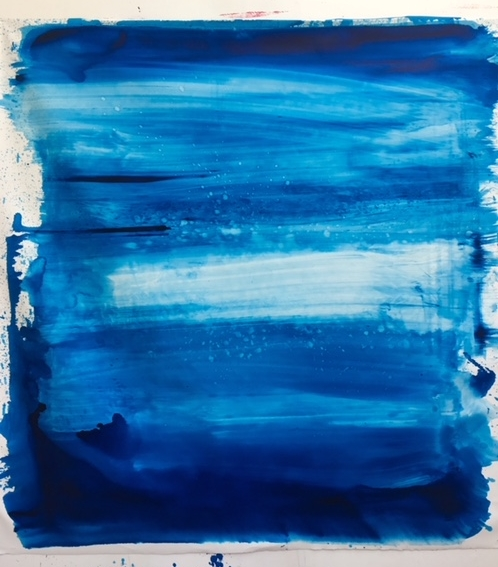 """""""You, Me and the deep blue sea"""" 2018 oil on canvas 183 x 187 cms"""
