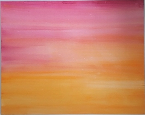 """Pellestrina sunset"" 2018 watercolour on canvas 150 x 120cms"