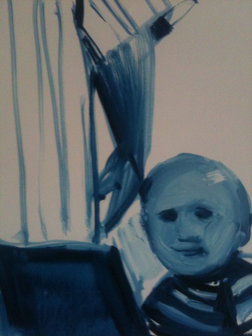 Zacky 2012 30cms x 20cms oil on canvas