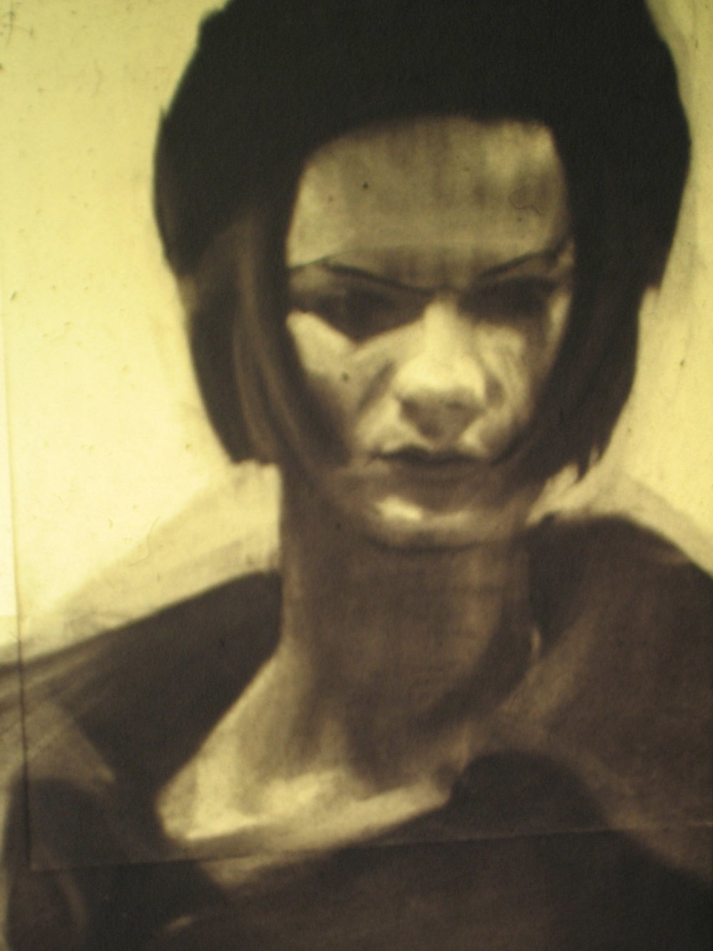 Ioanna 30 x 40 cms charcoal on paper 1991
