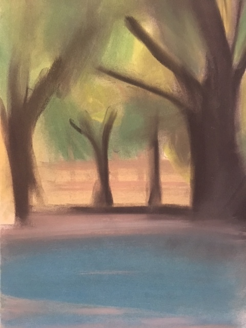 Green Park, 2018 pastel on paper