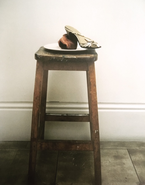 what I wouldn't do to you 1997 shoe, plate, stiletto, stool