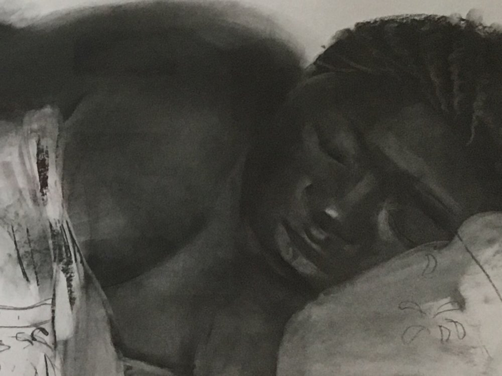 Constance, charcoal (detail)