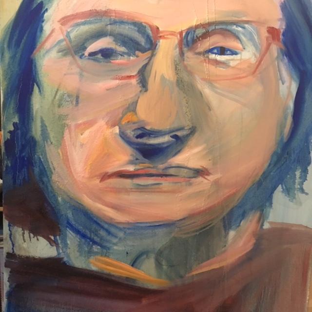 Andrea, oil on canvas 80 x 90cms 2018