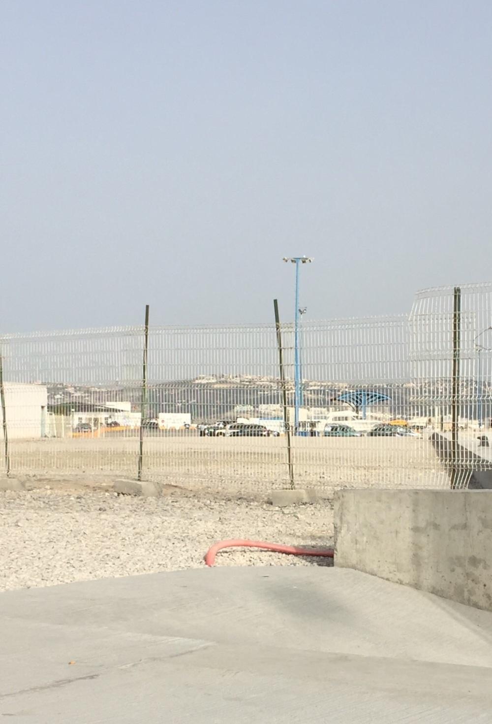 صورة للمكان الذي كان فوقه مقر النادي قبل تسويته بالأرض