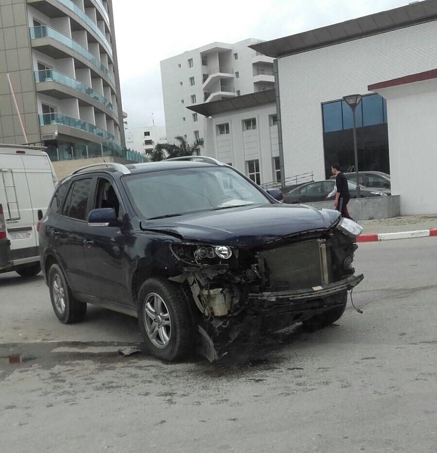 الأضرار التي تعرضت لها السيارة رباعية الدفع