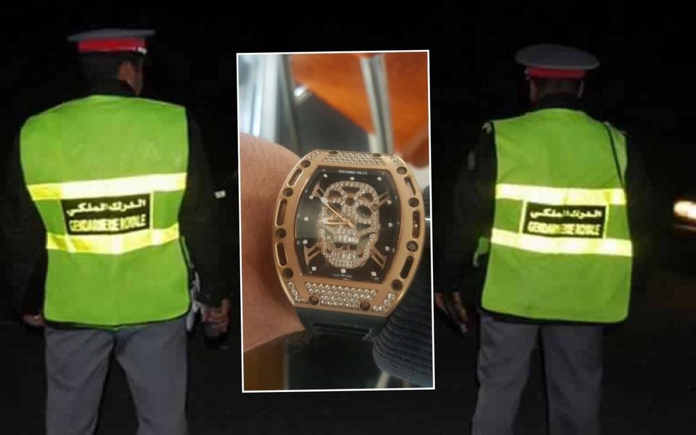 في وسط الصورة الساعة اليدوية Richard Mille