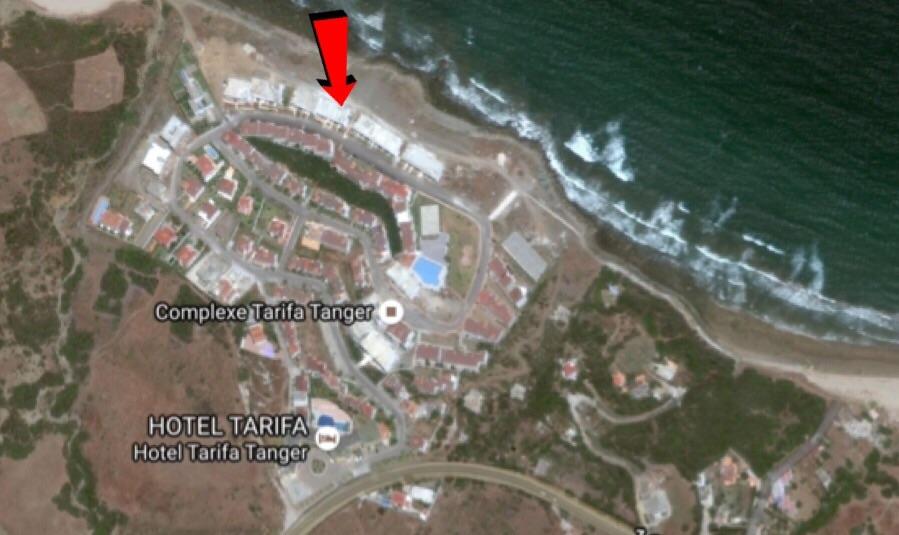 صورة توضح توسيع المشروع فوق رمال الشاطىء