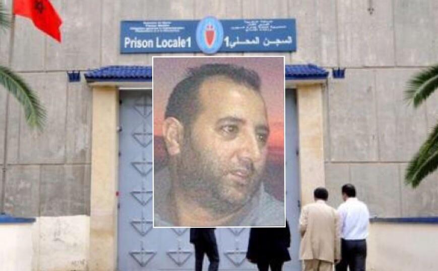 صورة مركبة من صورة الضحية رشيد الحراق والسجن المحلي 1 بسلا