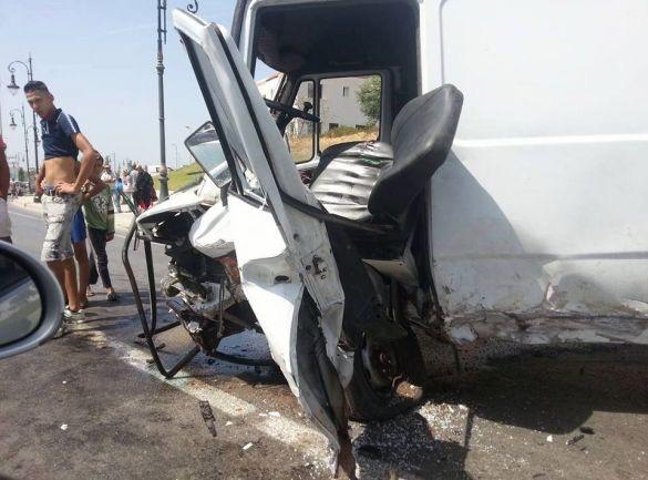 """سيارة """"سارق البلايص"""" التي تسببت في الحادثة"""