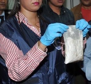 كمية الكوكايين المحجوزة يوم 09 ماي 2016 بالميناء المتوسطي