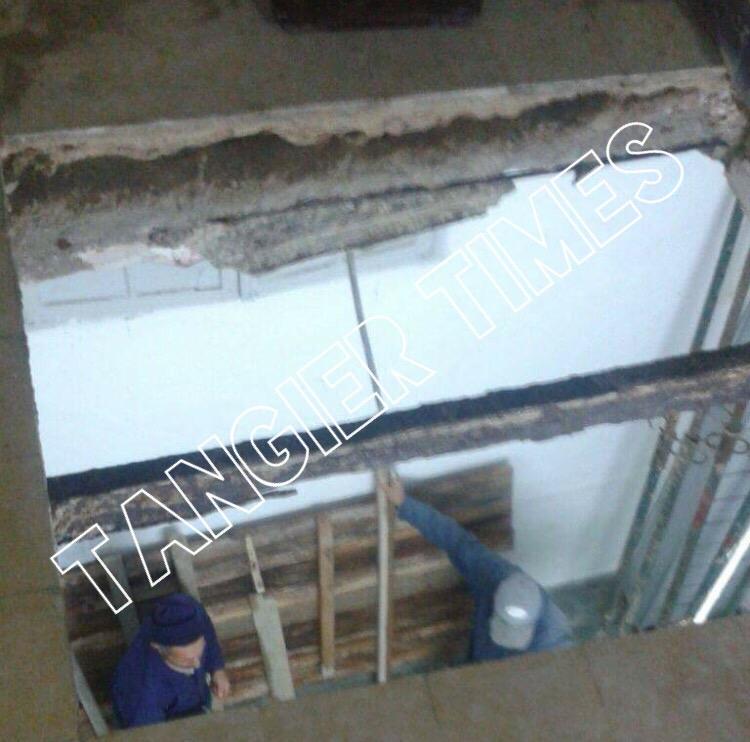 انهيار سقف مكتب الحالة المدنية