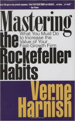 Mastering the Rockefeller Habits Book by Verne Harnish