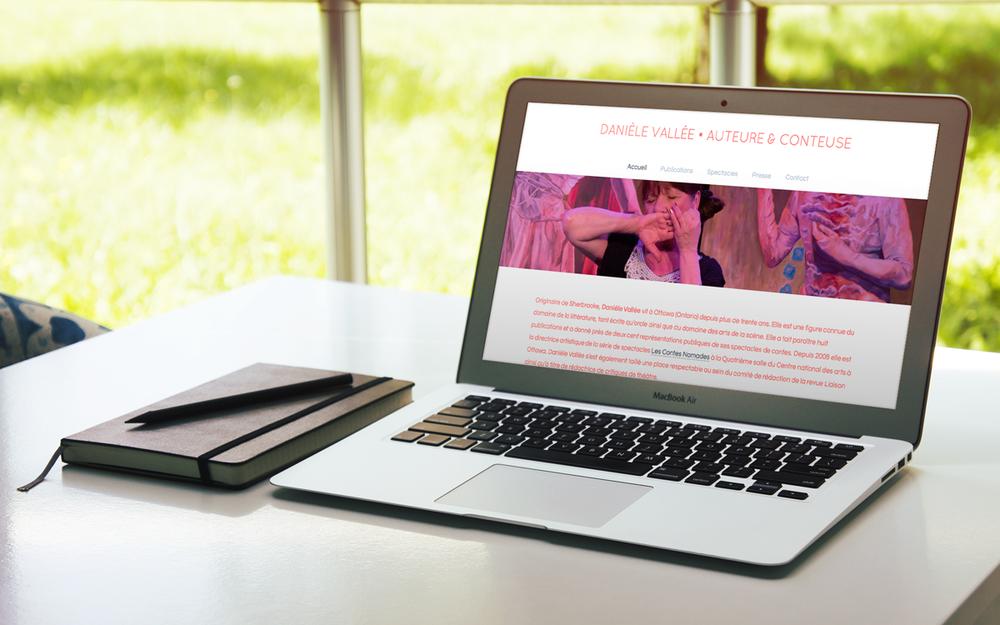 Site web Danièle Vallée, 2015