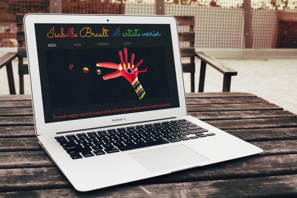Site web Isabelle Brault - 2012