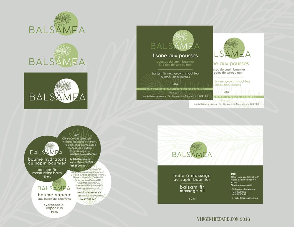 Refonte de logo et étiquettes de produits BALSAMÉA