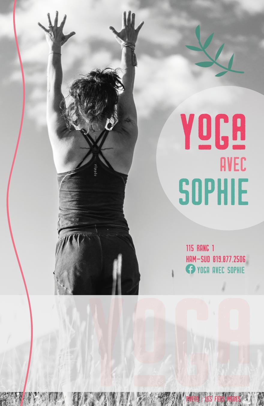 Affiche Yoga avec Sophie, 2018.