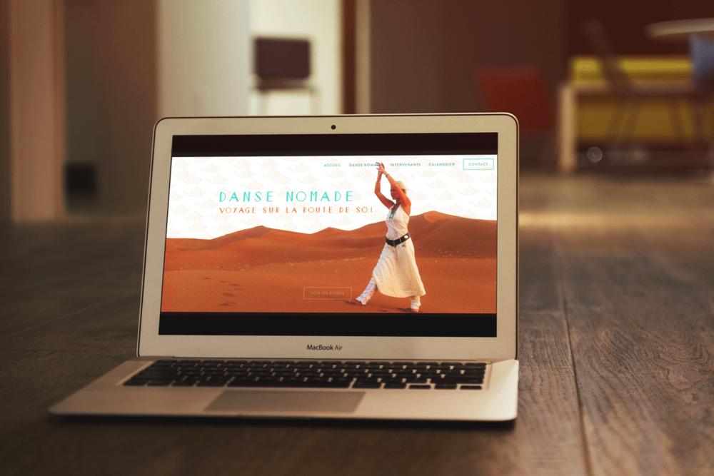 Site Web Danse Nomade, 2017