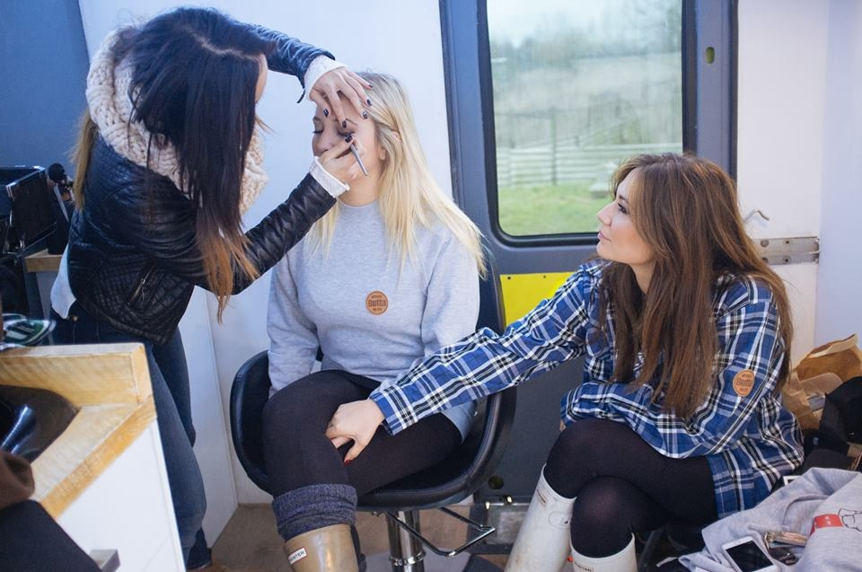 Sisters Ciara and Talia Jansen in the Lolo & Co Van getting hair and makeup done