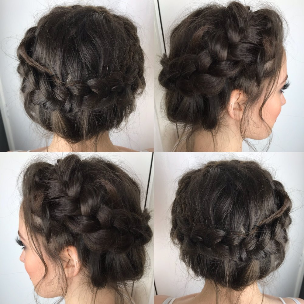 Milkmaid Braid - Loose, romanitc, boho style that looks stunning as an updo.