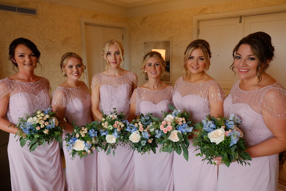 Bridesmaids at Coworth Park, Ascot Berkshire Aug 2018