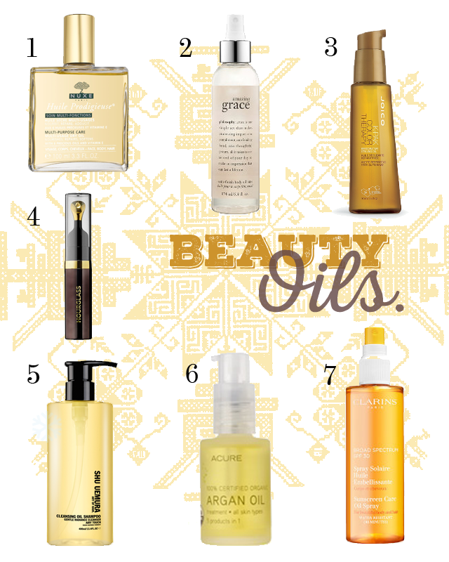 Beauty Essentials: Oils.