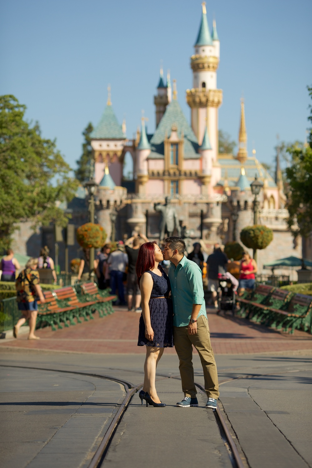 Disneyland Engagement Session - EngagedandInked.com