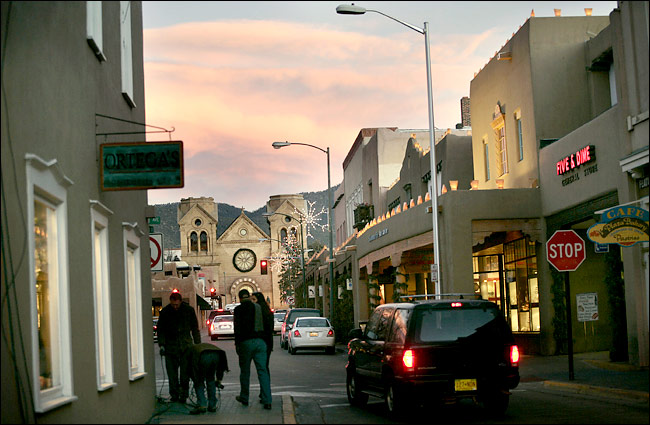 Downtown Santa Fe at Christmas