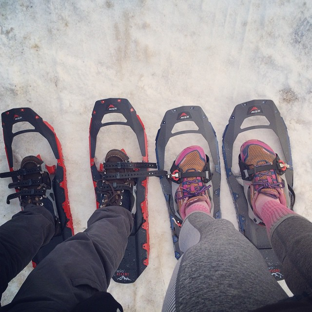 A band that snowshoes together stays together #snowshoe #lakelouise #rockymountains #iamcanadian #wetsocks