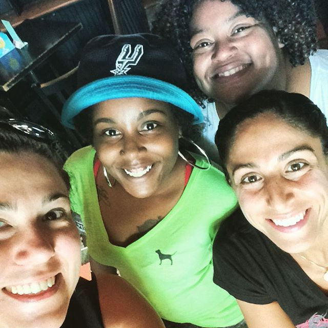 Looking Glass is overrun by these ladies! Come say hi! BRUNCH SERVED TILL 4!!!!#10dollarbottomless #petworthdc #eggsforever