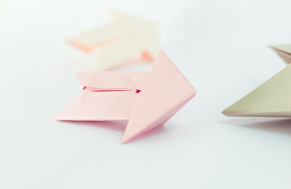 Origami realizzato con carta Tant. Il modello è di Alberto Calderone (CDO)