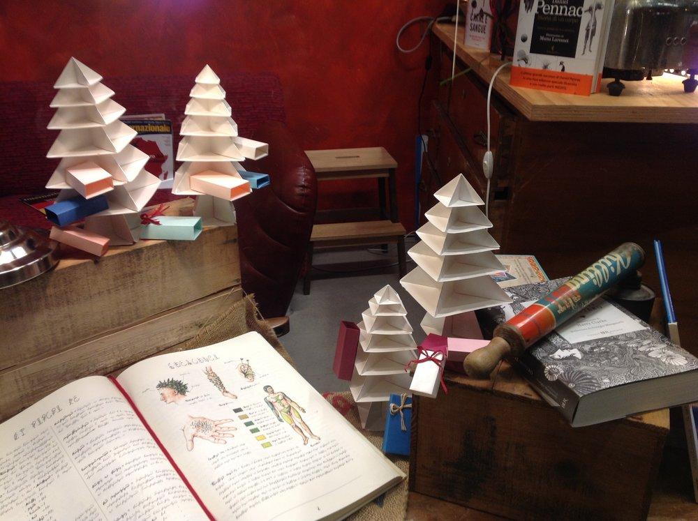 Vitrine de Noël (  Librerie Calibri  )      Model origami:R. Cooker et M. Yamaguchi