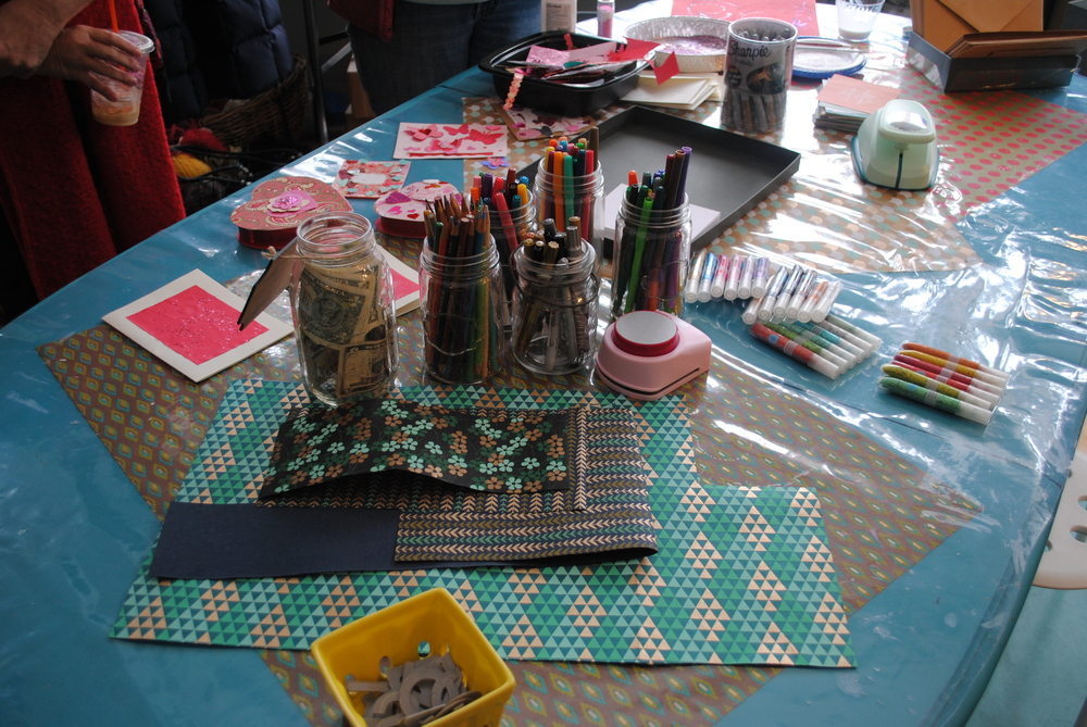 Card making at the Haven Collective