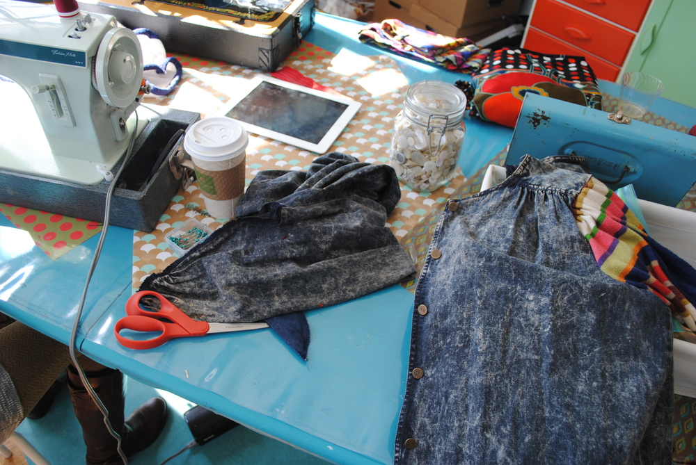 Sewing at The Haven Collective